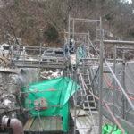 砂防堰堤ブロック切断工事